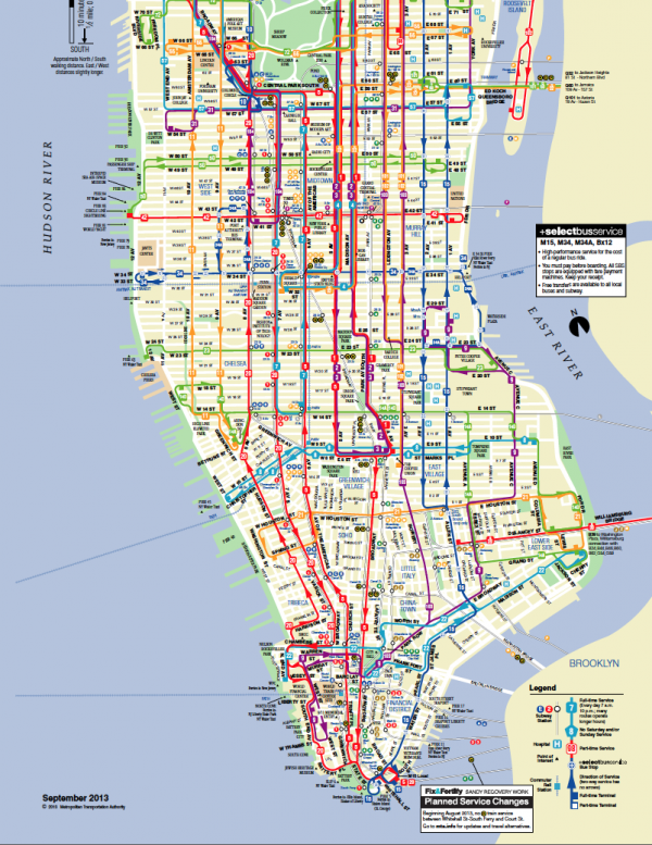 Take a subway or bus ride in New York with the MetroCard – Nyc Tourist Map Pdf