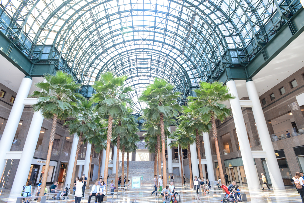 A trip through the brookfield place mall for Places to visit outside of new york city