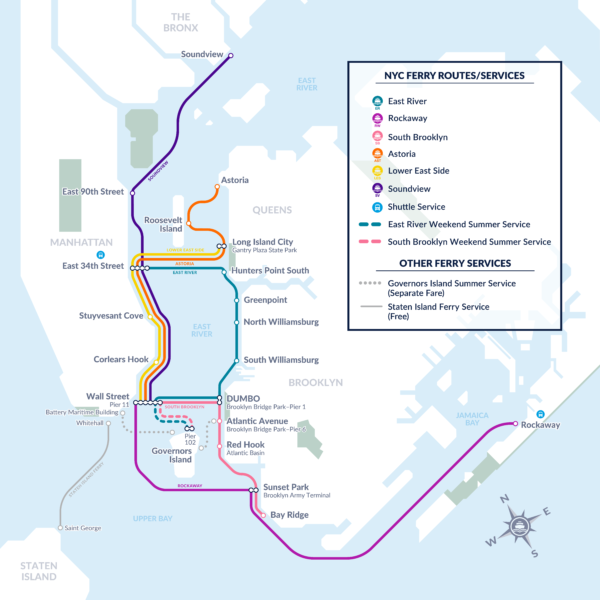 Map Of New York City For Tourists.Ny Waterway Ny Water Taxi And Nyc Ferry A Fun Way To Visit Manhattan