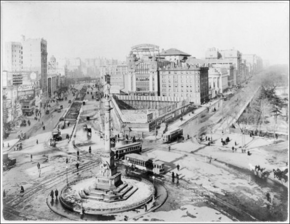 Columbus Circle in the 1920's