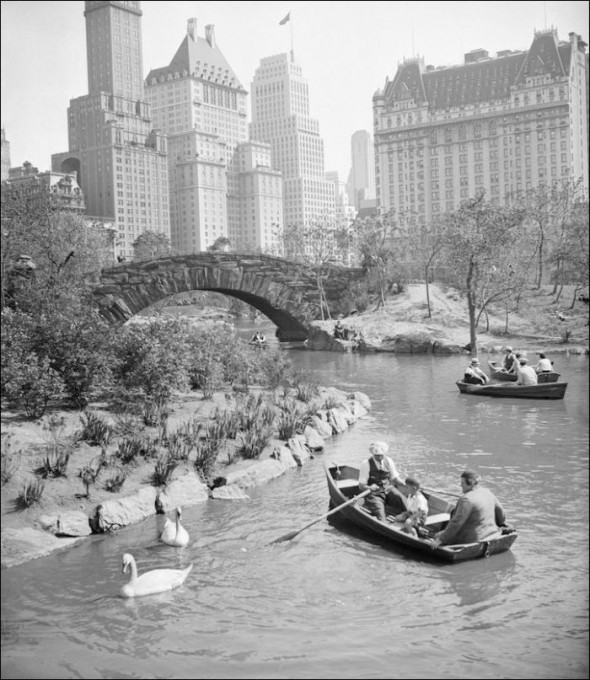 The Central Park Pond in the 1940's