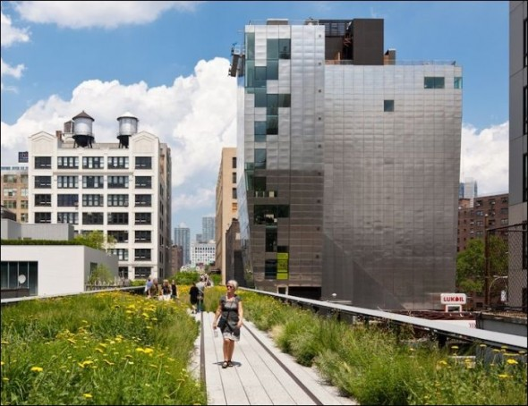 The Lower East Side railroad now restored as the High Line