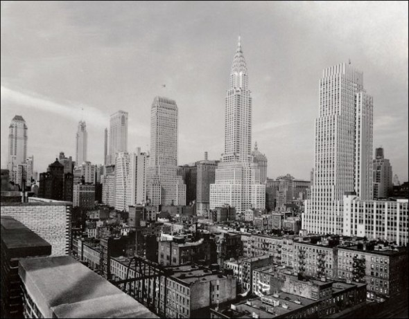 Midtown and the Chrysler Building in the 1930's
