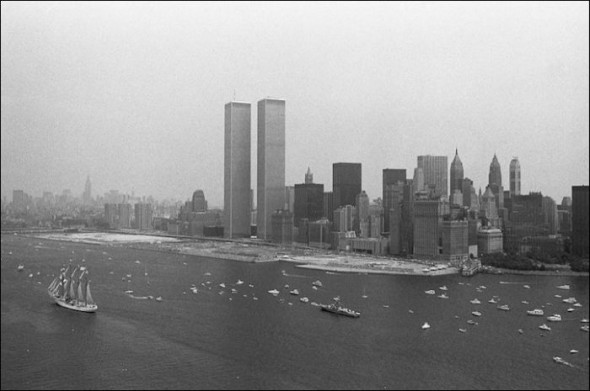 Financial District and the Twin Towers in the 1960's
