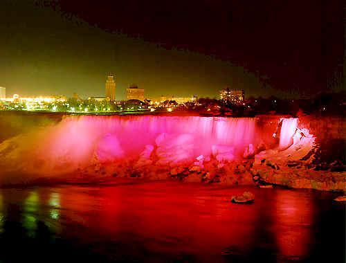 The Niagara Falls evening show