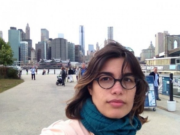 Portrait of Laura Perez-Garcia, a French-Cuban artist living in New York